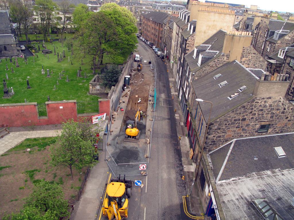 Edinburgh Trams - Ariel View